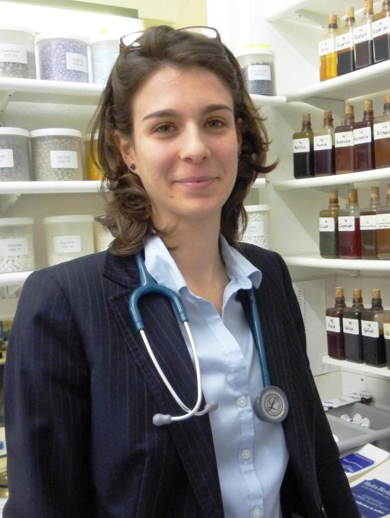 Amparo the Medical Herbalist Consultant in clinic